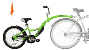 WeeRide Co-Pilot tagalong in green