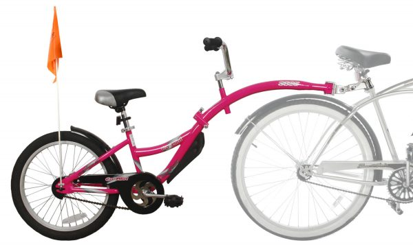 WeeRide Co-Pilot tagalong in pink