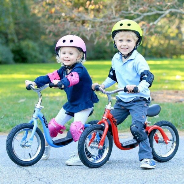Children on WeeRide Kazam Balance Bikes