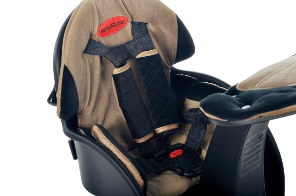 Beige Safe Front Deluxe baby bike seat safety harness