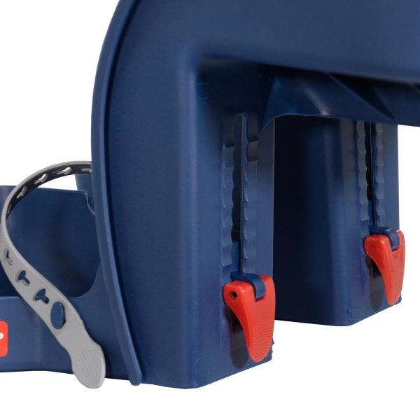 Beige Safe Front Deluxe baby bike seat foot height adjustment