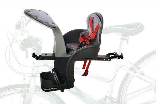 WeeRide Safe Front baby bike seat mounted on bike