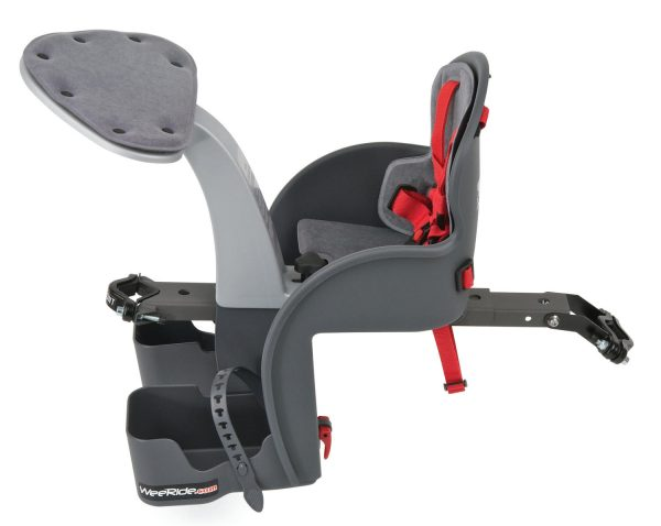 WeeRide Safe Front baby bike seat with mounting bar side view