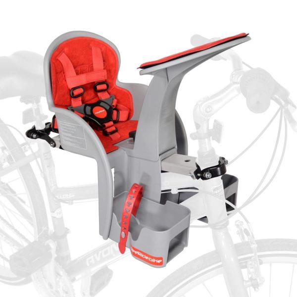 WeeRide Safe Front baby bike seat mounted on bike