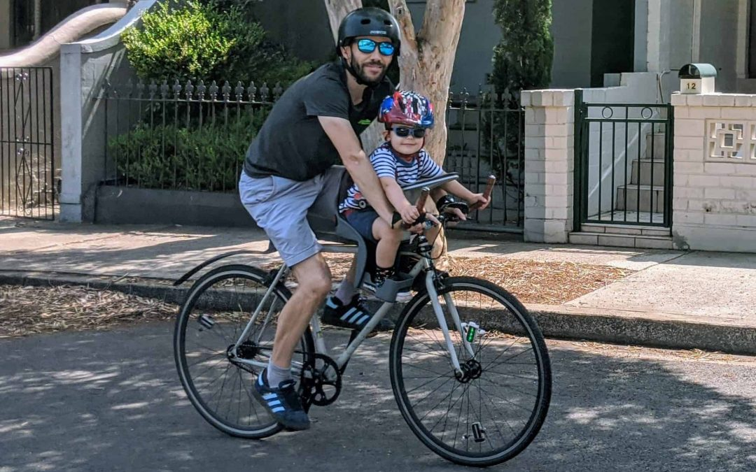 Riding with a Child in a WeeRide Classic