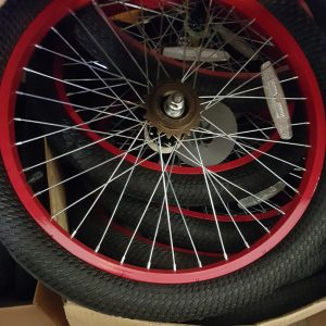 WeeRide tag-along spare wheel red