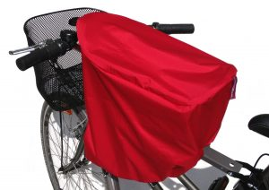 Baby bike seat cover in red