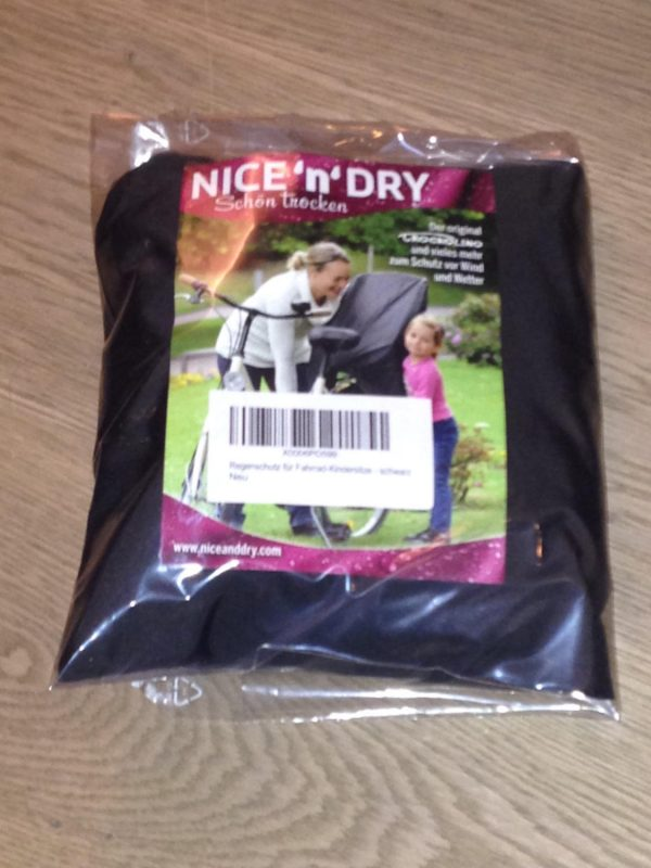 Baby bike seat cover in package