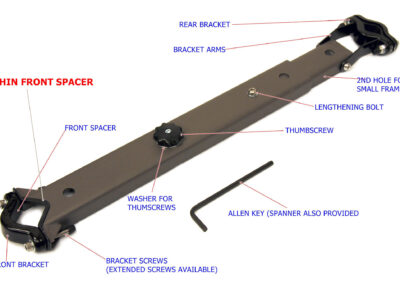 WeeRide mounting bar with part names