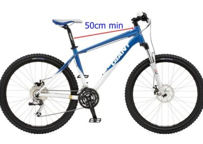 Bike with minumum distance for WeeRide bike seat