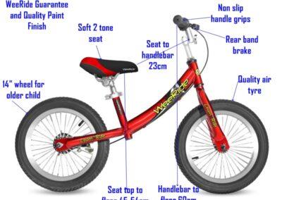 WeeRide deluxe balance bike parts list