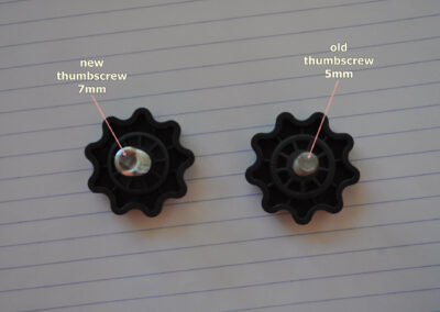 Difference between new and old thumbscrews