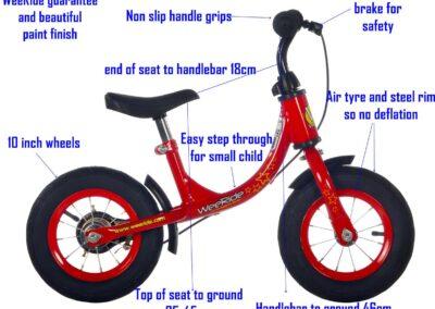 WeeRide balance bike parts