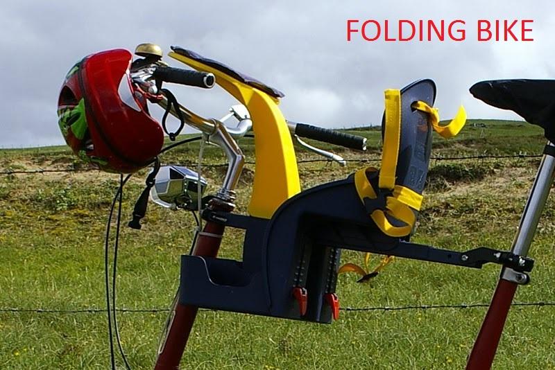 Folding bike with child bike seat