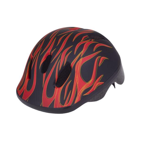 Black-red bike helmet side view