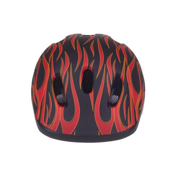 Black-red bike helmet front view