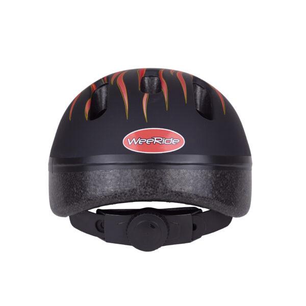 Black-red bike helmet rear view