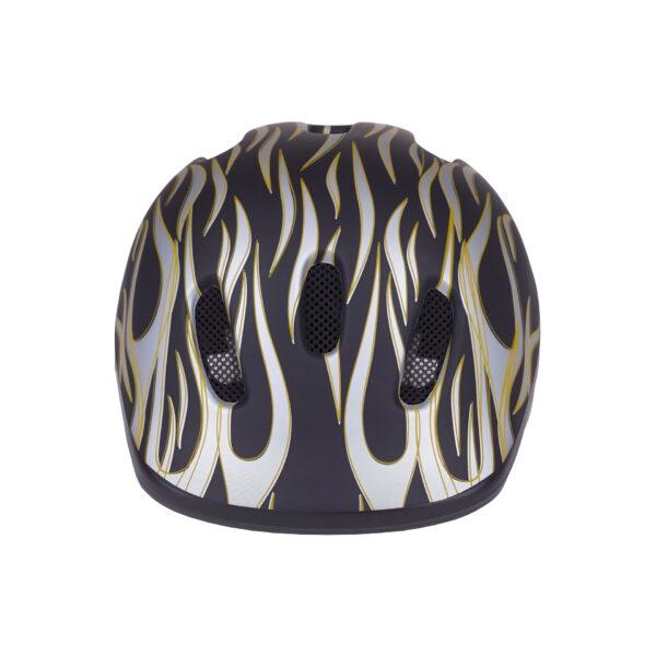 Black-silver bike helmet front view