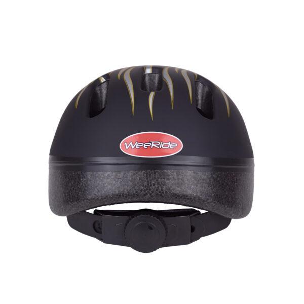 Black-silver bike helmet rear view