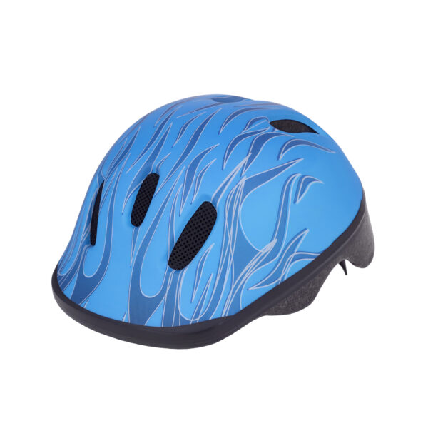 Blue bike helmet side view