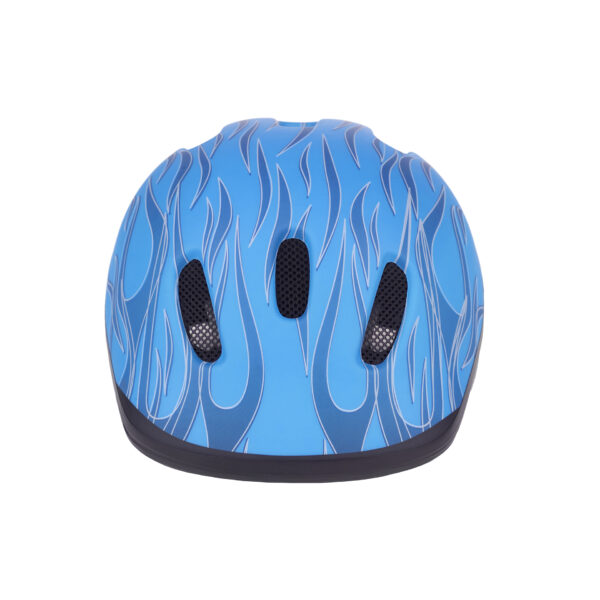 Blue bike helmet front view