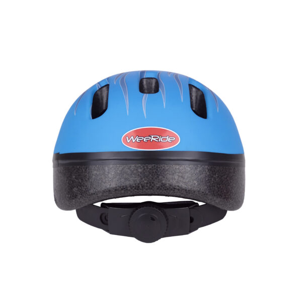Blue bike helmet rear view