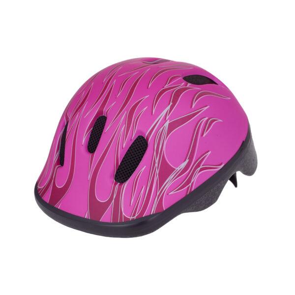 Pink bike helmet side view
