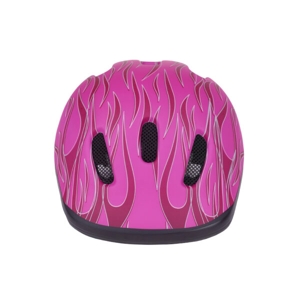 Pink bike helmet front view