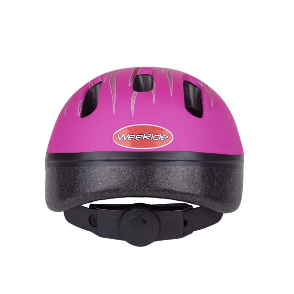 Pink bike helmet rear view