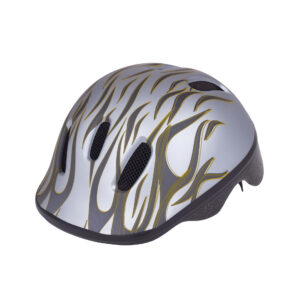 Silver-gray bike helmet side view
