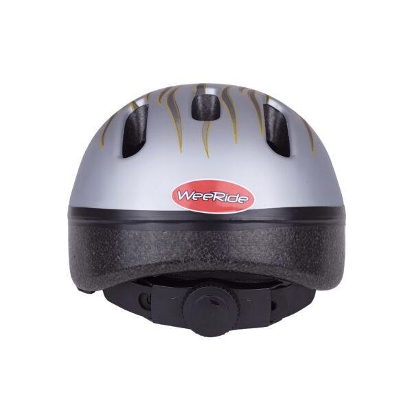 Silver-gray bike helmet rear view