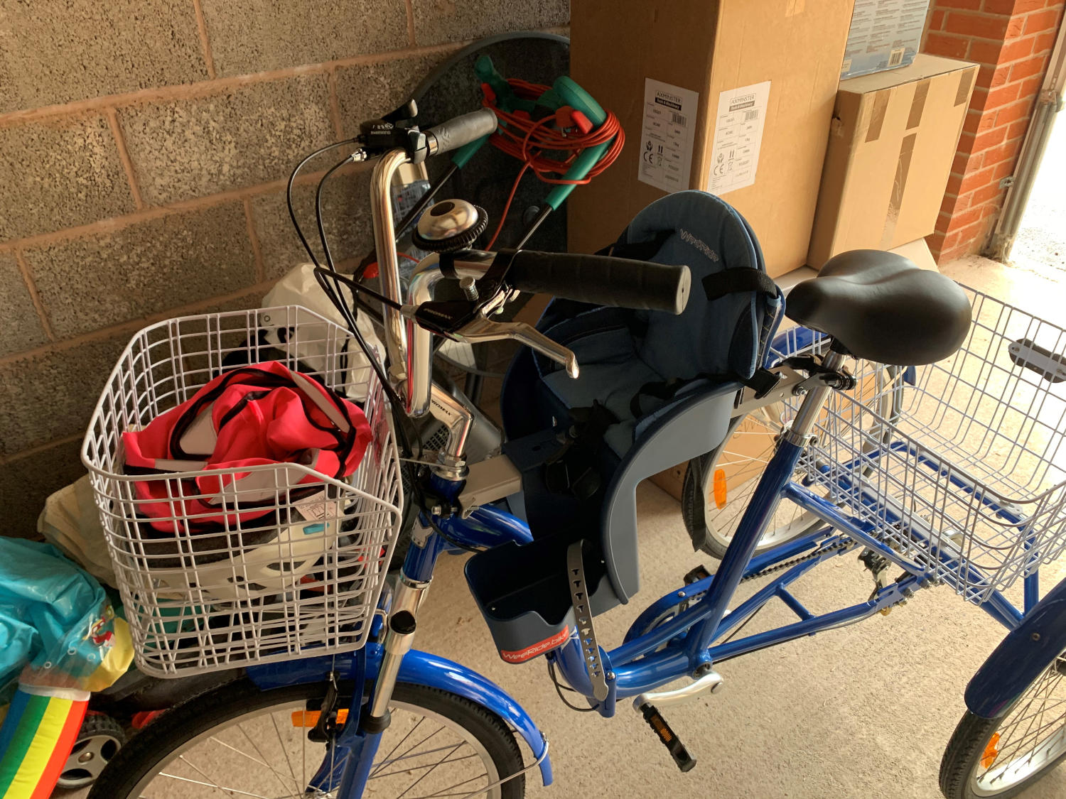 Tricycle with child bike seat