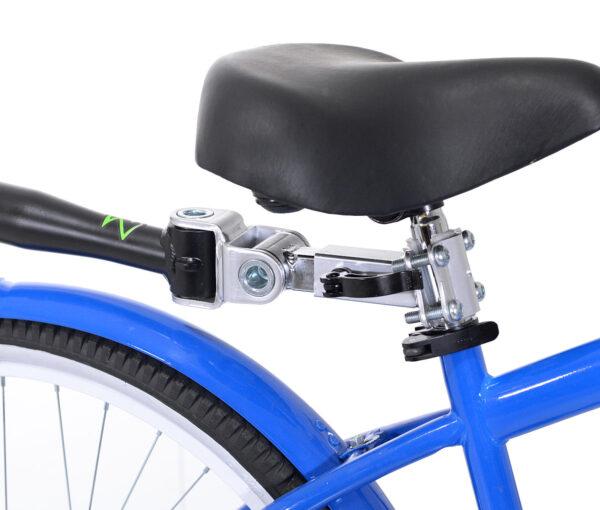 Close-up of Black Tag-along bike