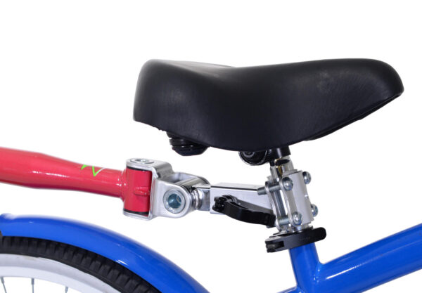 Close-up of Pink tag-along bike