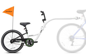 White Tag-along bike