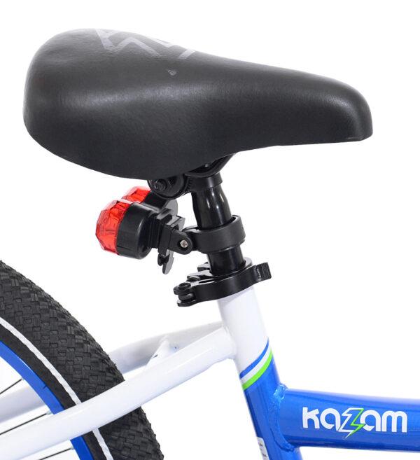 Close-up of Blue tag-along bike