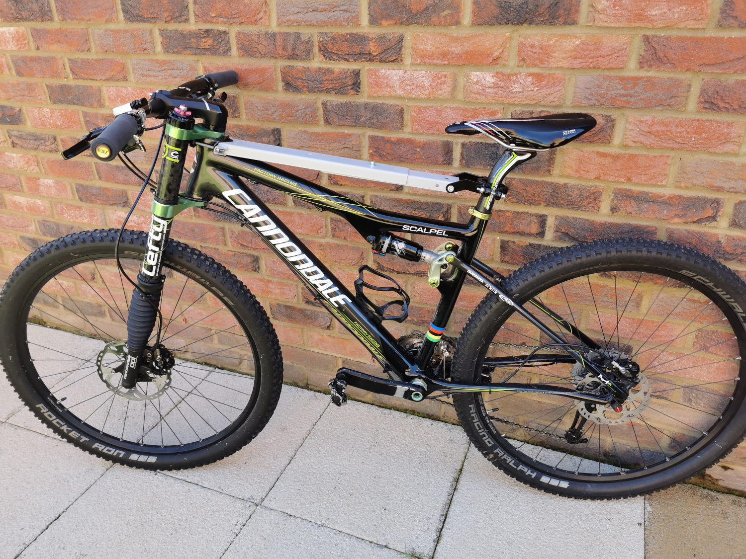 Mountain bike with a child seat carrier