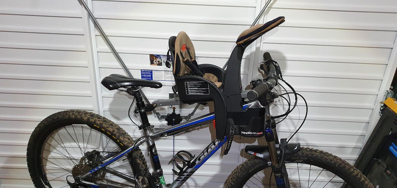 Giant bike with child bike seat