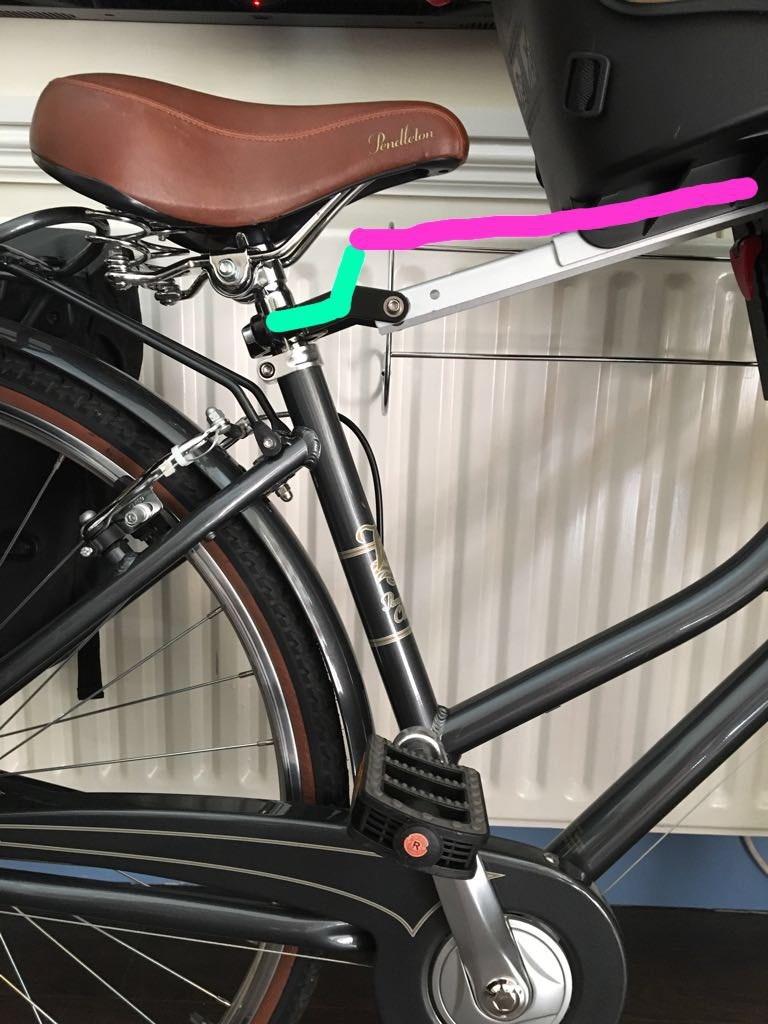 Bike with a child bike seat installed