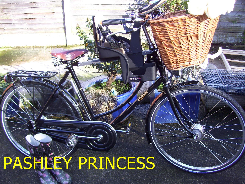 Pashley bike with child bike seat